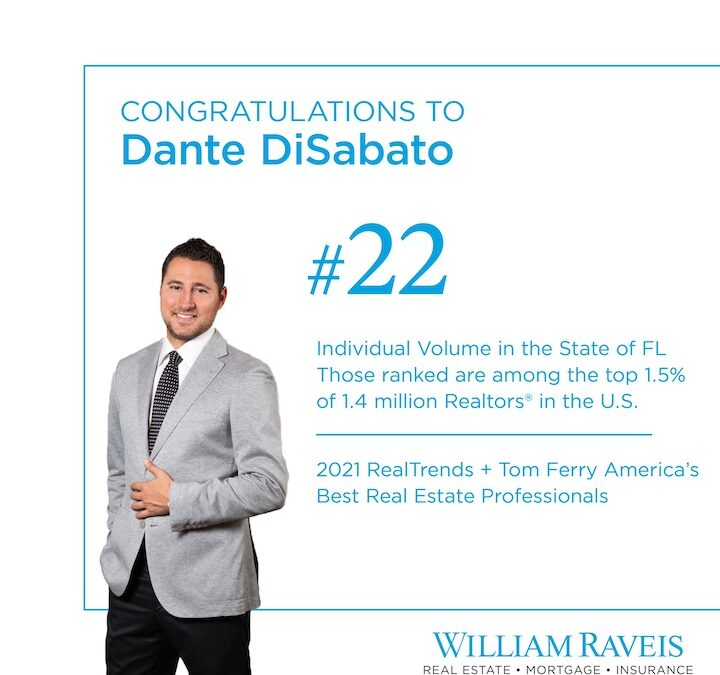 DANTE DISABATO RANKS #22 IN FLORIDA FOR 2020
